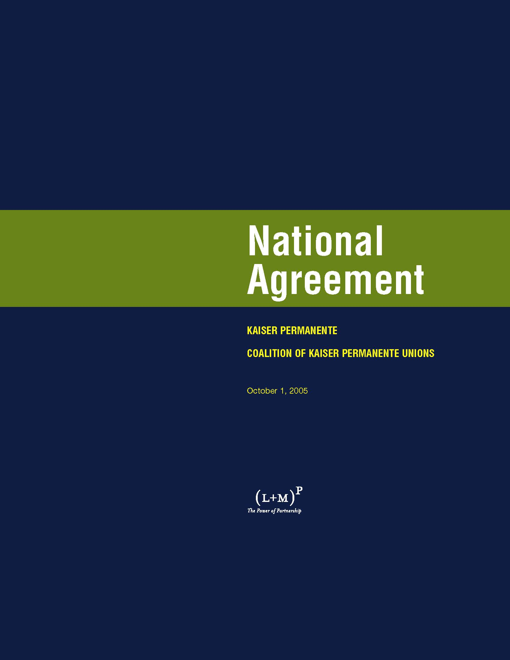 cover of 2005 National Agreement