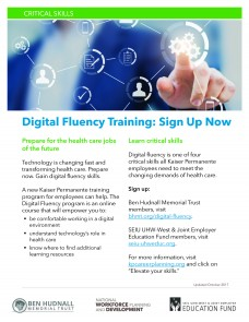 image of digital fluency training flier
