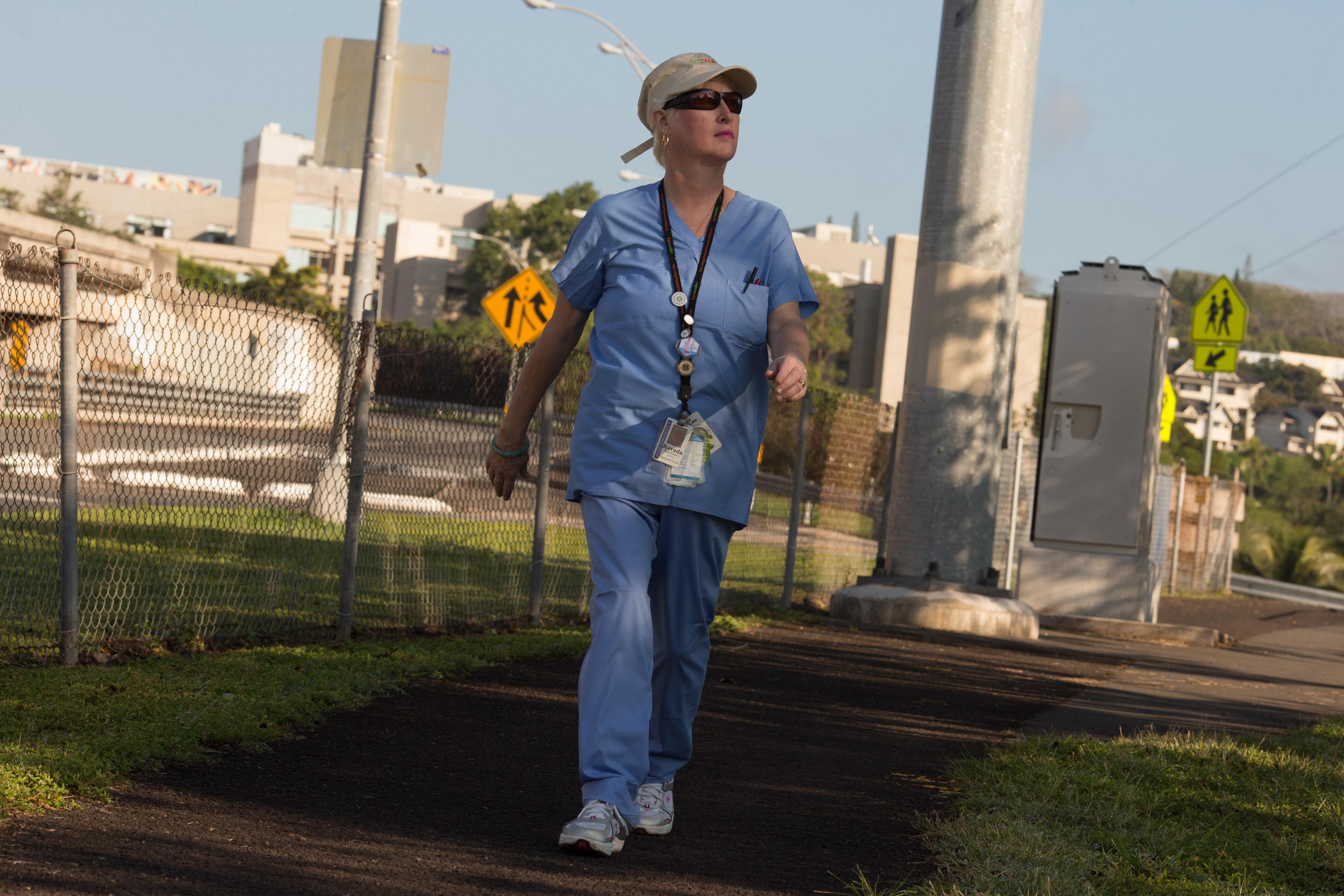 Ravida Benjamin walking
