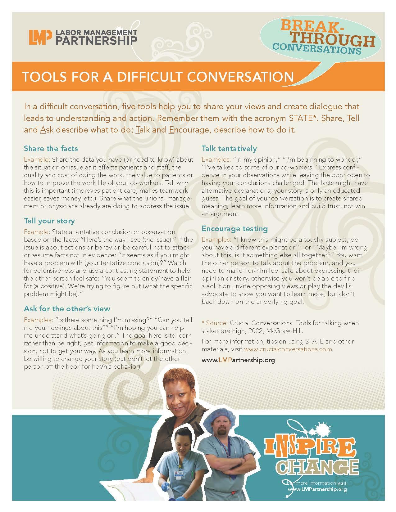 Flyer on Breakthrough Conversation skills