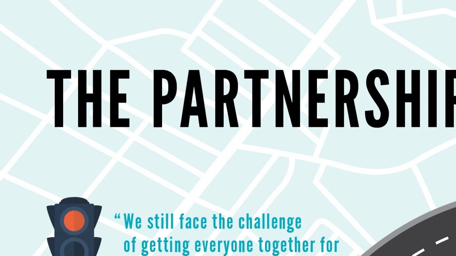 a graphic showing partnership's challenges and its successes