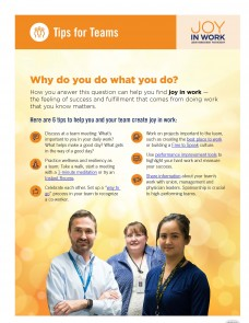 flier with 3 smiling health care workers