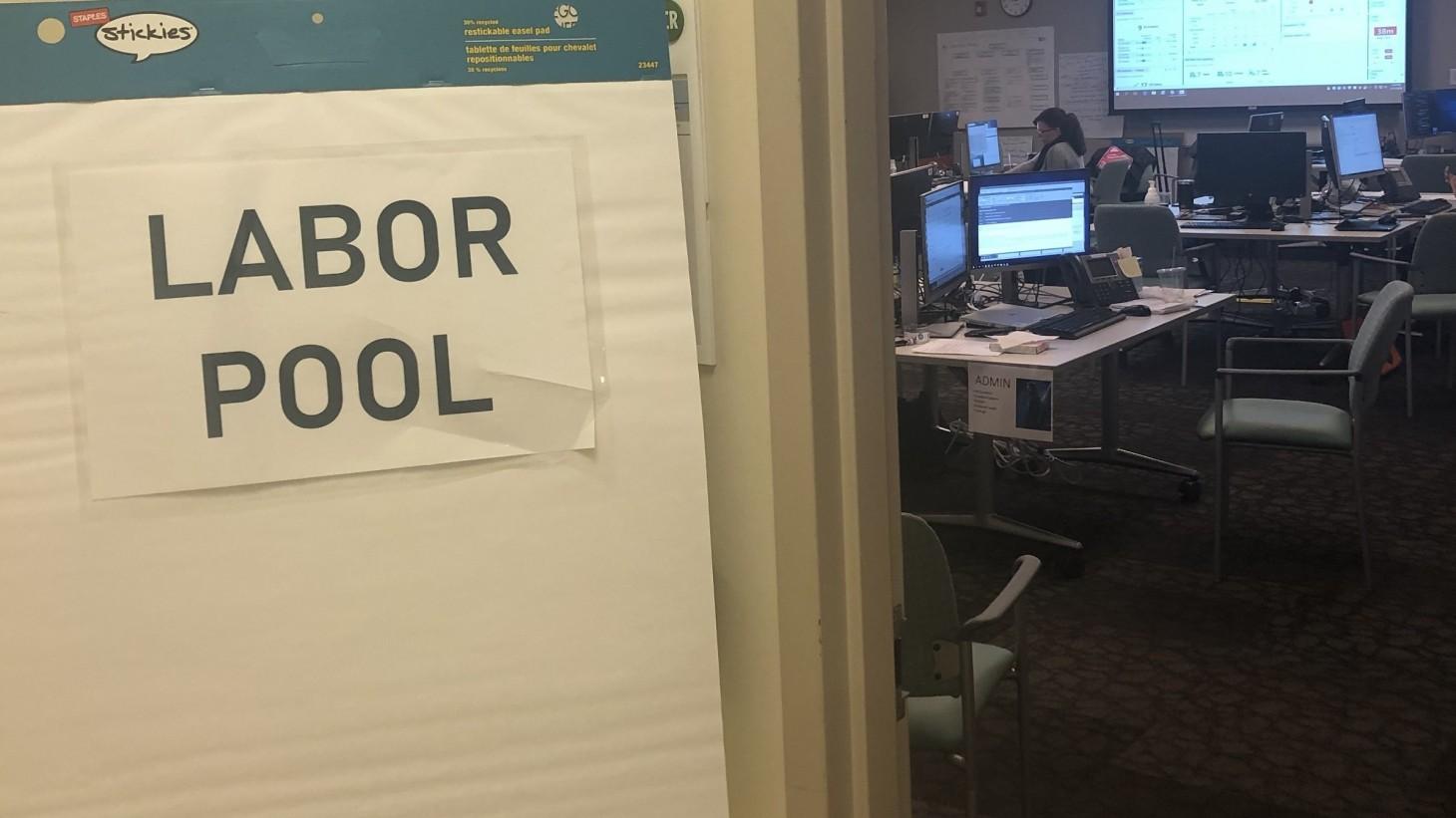 sign reading labor pool