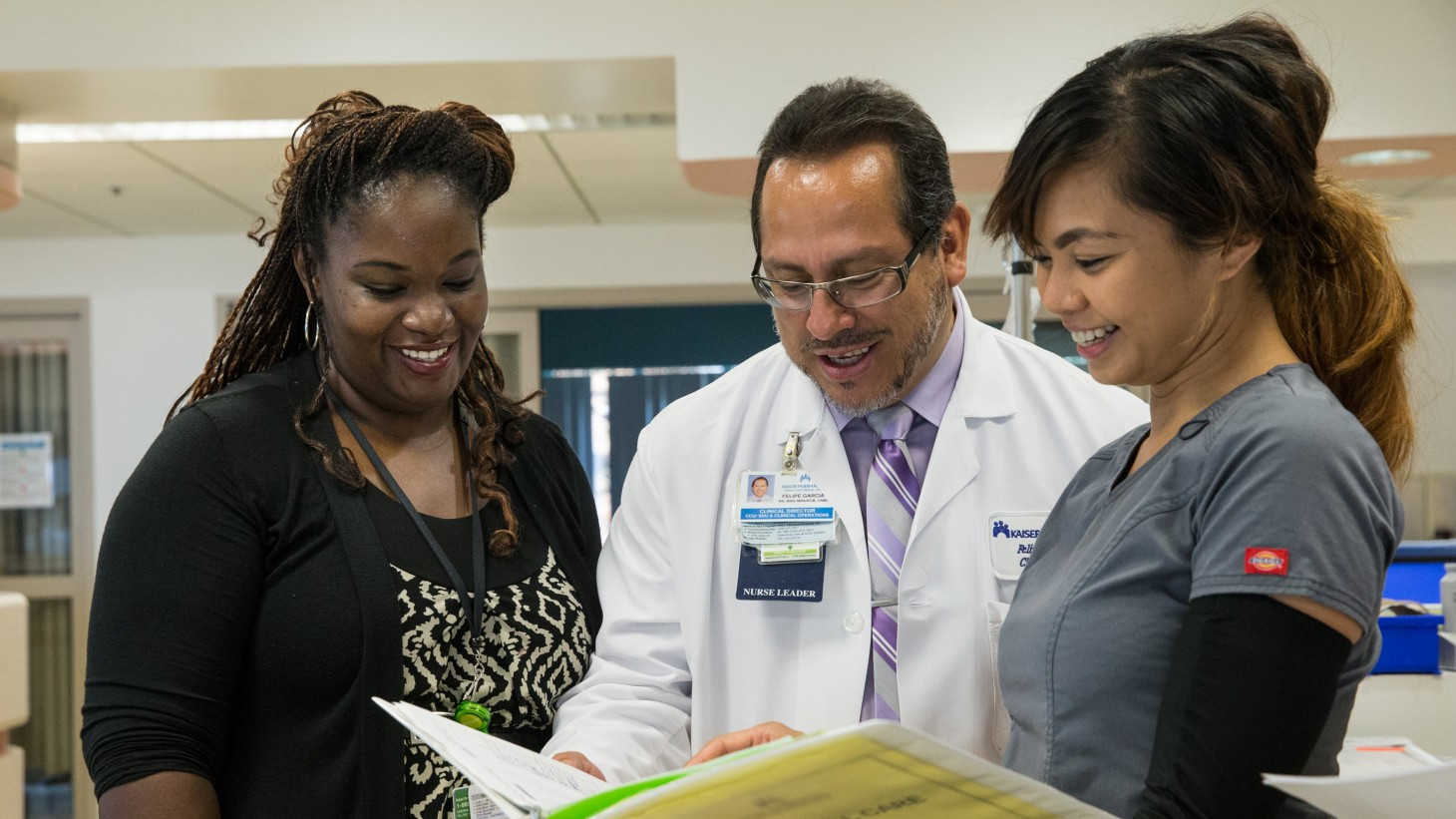 Charisse Lewis with key members of the Baldwin Park critical care team