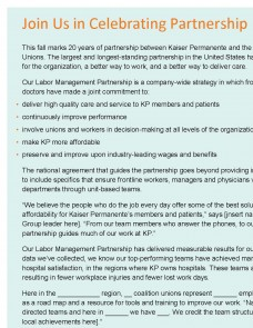 anniversary newsletter template labor management partnership