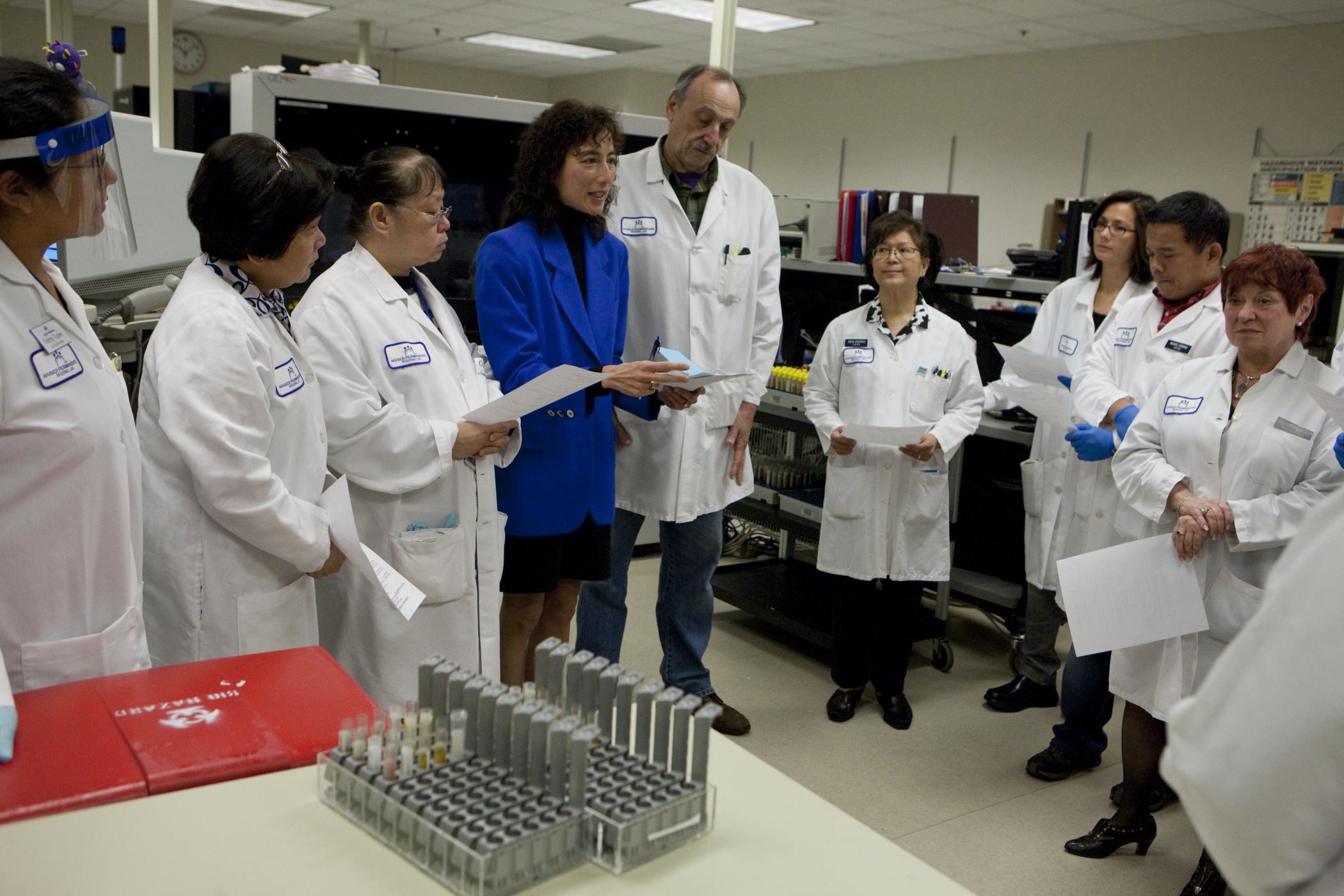 Berkeley Regional Lab team huddle.