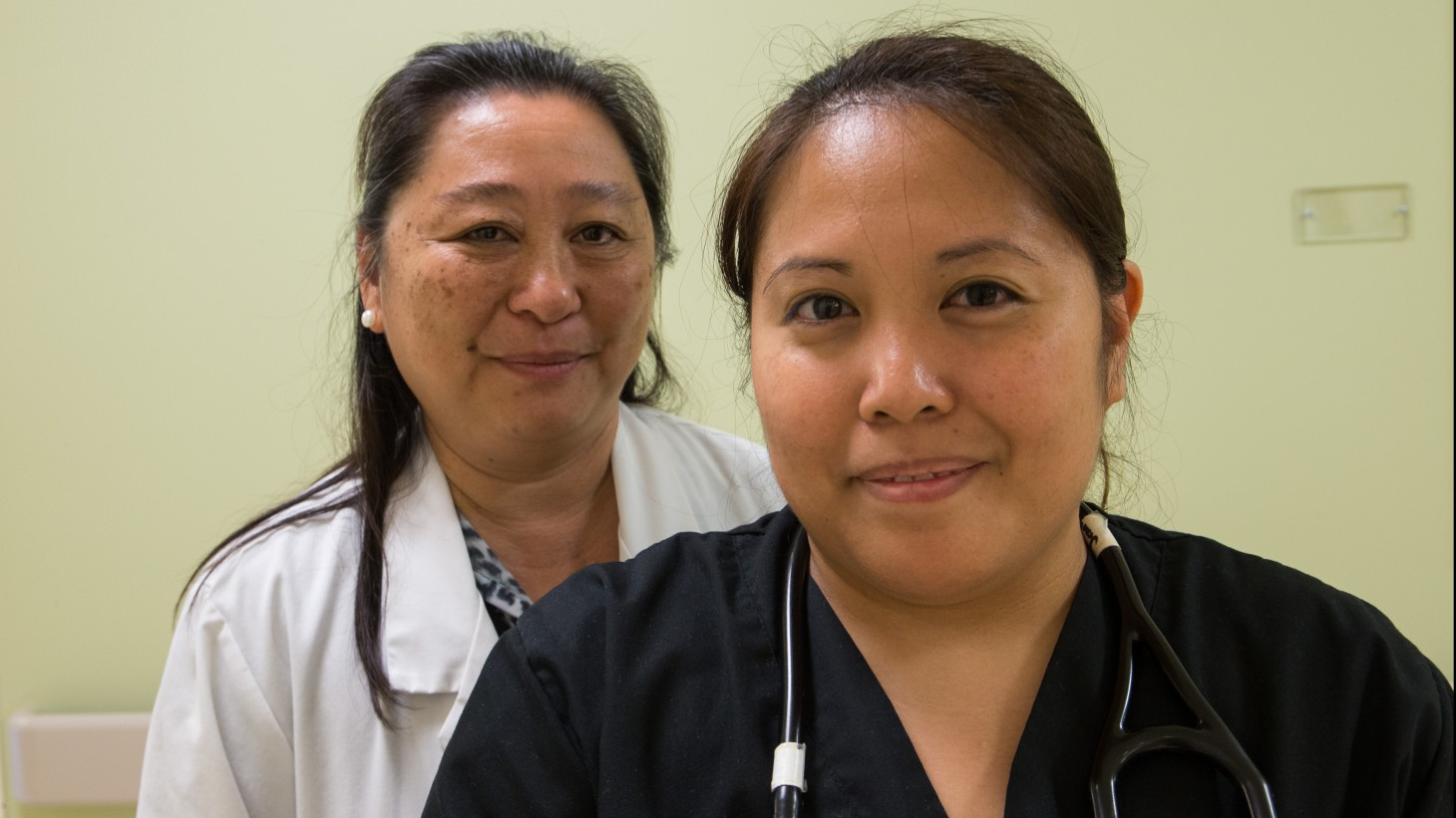 Manlee Velasco, RN, and Jenalyn Andres, RN