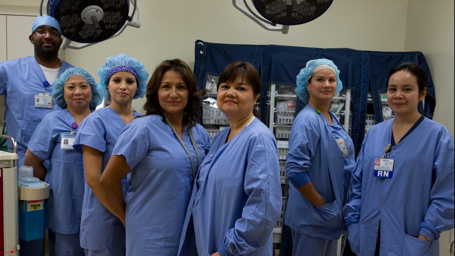 "alt=""Members of the Perioperative team at Ontario Medical Center."""