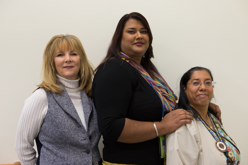Falls Church, VA Internal Medicine Clinical Operations Manager Marianne Henson, Management; Regional LMP Improvement Specialist Preena Gujral-OPEIU; and Falls Church, VA. Internal Medicine RN Isolina Pistolessi-UFCW LU 400.
