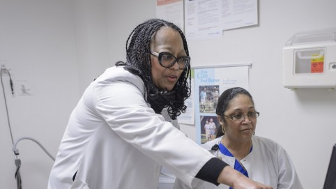 Dr. Juanita Fletcher Cone with Demetrice Franklin.