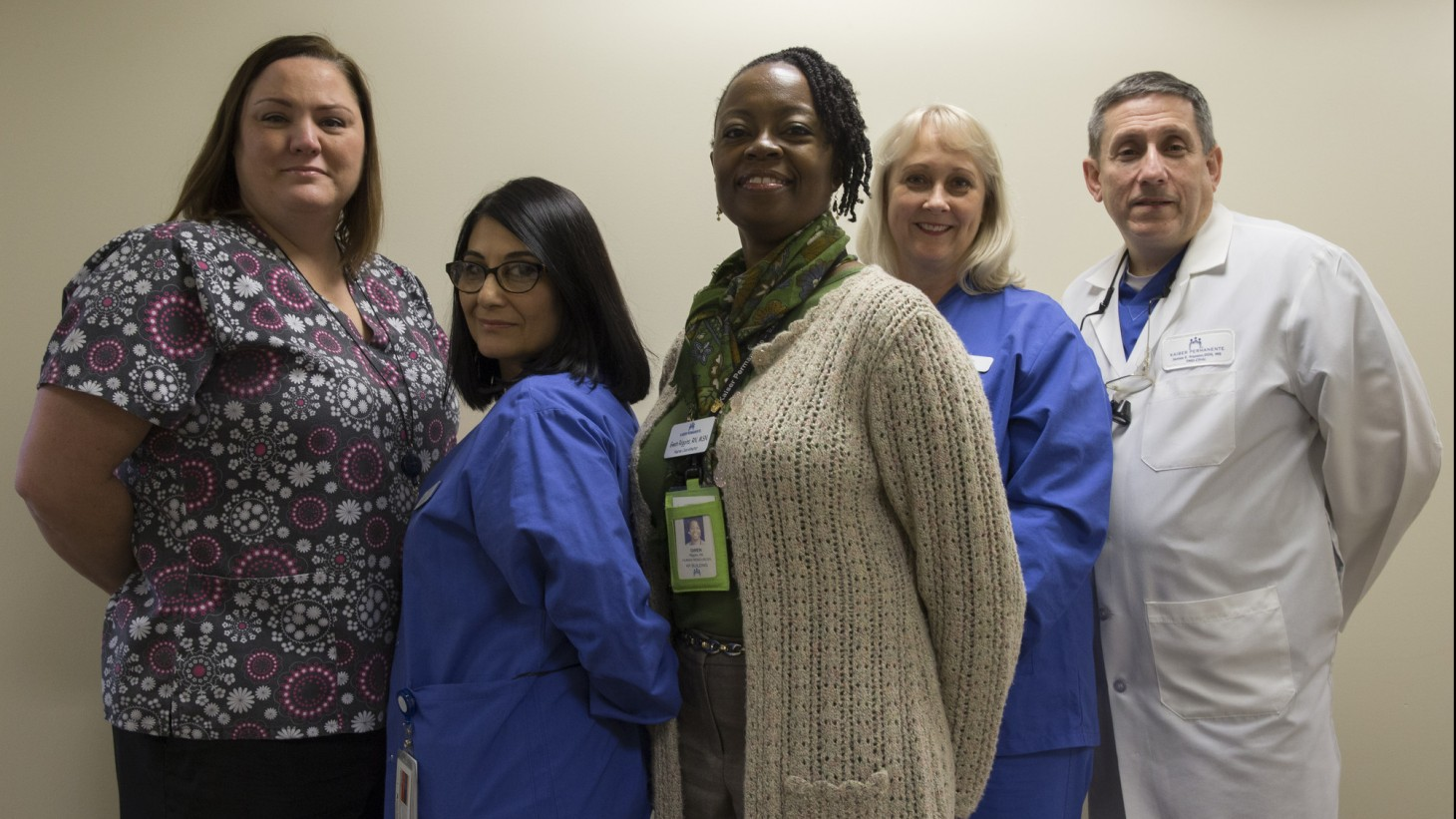 A group of health care workers posing together