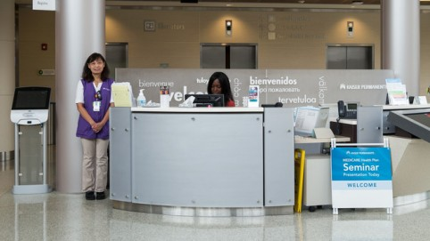 Volunteer and receptionist