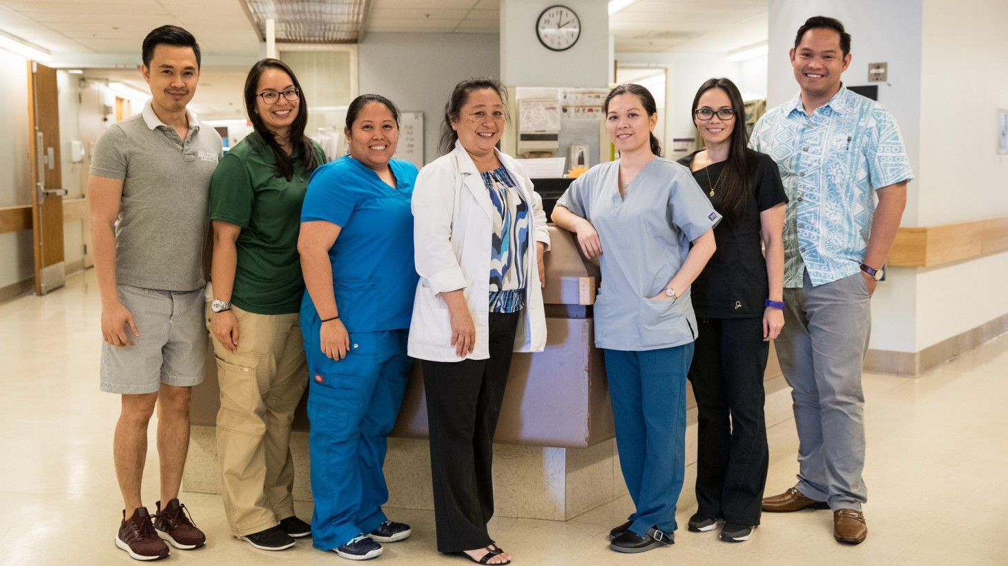 group photo of health care workers