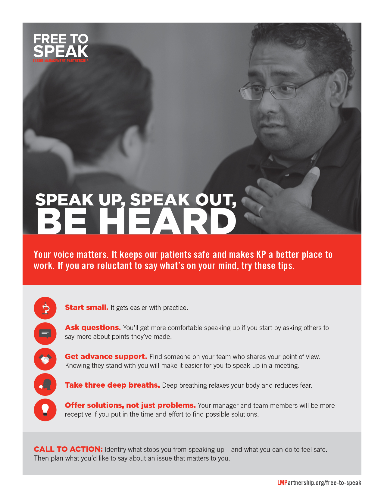 Free to Speak: Speak Out, Speak Up, Be Heard