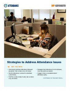 flier with image of woman sitting in a cubicle talking on the phone