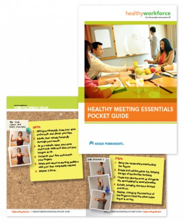 Healthy Meeting Essentials Pocket Guide