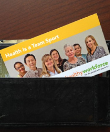 Health Is a Team Sport wallet card