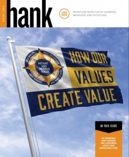 How Our Values Create Value, with Value Compass on a flag