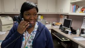 Registered nurse Angela Williams-Edwards