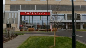exterior of emergency department