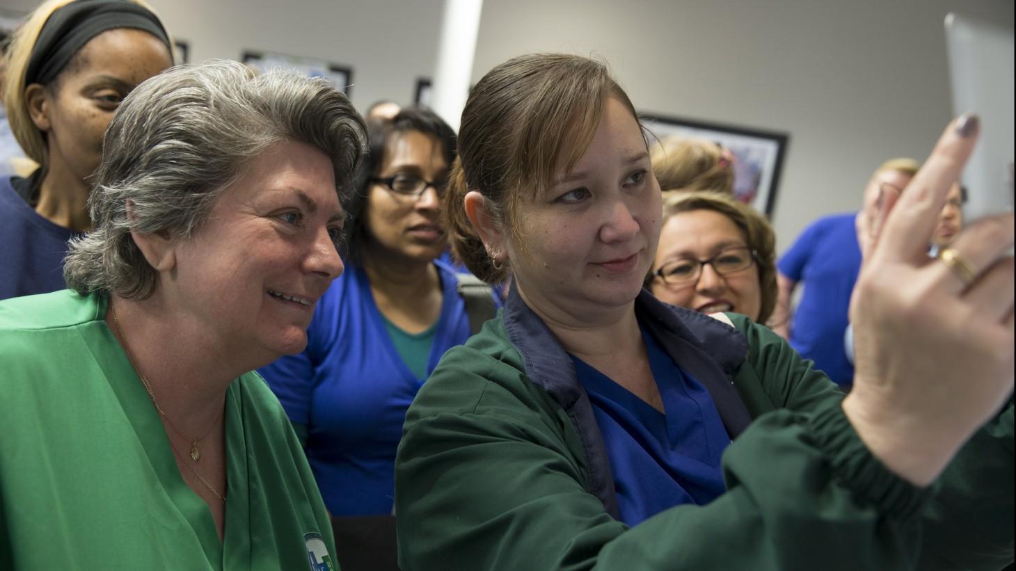 UNAC/UHCP nurses at a training